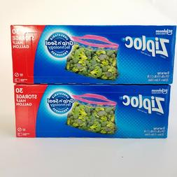Ziploc 1/2 Gallon Bags With Expandable Bottom 30 Ct Each Mar