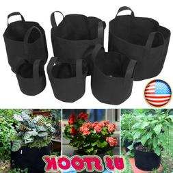 1-20Pack Round Fabric Aeration Plant Pots Grow Bags 1 2 3 5
