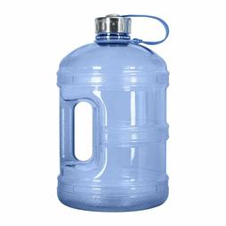 1 Gallon BpA Free Reusable Water Bottle Stainless Steel Cap