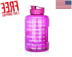 1 Gallon Bpa Free Water Bottle Fitness Gym Workout Training