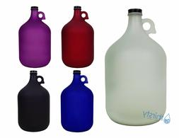 1 Gallon Frosted Glass Water Bottle Jug Canteen Brew Contain