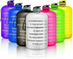 1 Gallon Motivational Water Bottle with Handle Time Maker 12