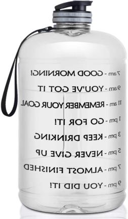 1 Gallon Motivational Water Bottle with Time Marker Portable