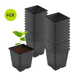1 Gallon Nursery Square Plastic Plant Flower Pots  for Plant