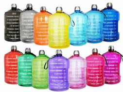 1 Gallon Portable Water Bottle Motivational Fitness Workout