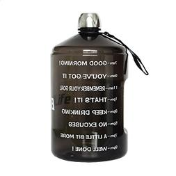 1 Gallon Sports Water Bottle with Motivational Time Marker B