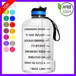 1 Gallon Water Bottle Bpa Free Leak Proof With Straw And Han