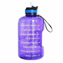 1 Gallon Water Bottle Motivational Fitness Workout with 1 ga