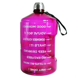 1 Gallon Water Bottle Motivational Fitness Workout Clear Bpa