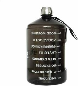 1 Gallon Water Bottle Motivational Fitness Workout with Time