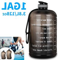 1 Gallon Water Bottle Motivational With Timer Maker BPA Free