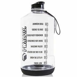 PWRBOTL 1 Gallon Water Bottle with Motivational Time Marker