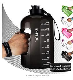 B4Life 1 Gallon Water Bottle with Time Marker, Motivational