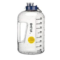 1 Gallon Water Bottle with Time Marker Motivational Fitness