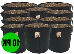 10 Pack TOP GROWER Fabric Pots 1,2,3,5,7,10,15,20,25,30,45,6
