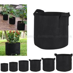 10 Pcs Round Fabric Pots Plant Pouch Root Container Grow Bag