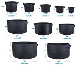 1/3/5/10/40/200 Gallon Fabric Grow Pots Breathable Plant Pac