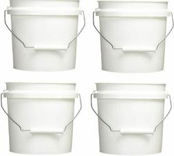 Leaktite 744456 1-Gallon White Plastic Pail Paint Pail/Conta