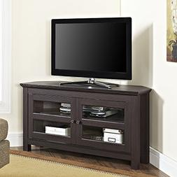 "WE Furniture 44"" Cordoba Corner TV Stand Console, Espresso"