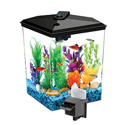 AquaScene 1-Gallon Fish Tank with LED Lighting and Power Fil