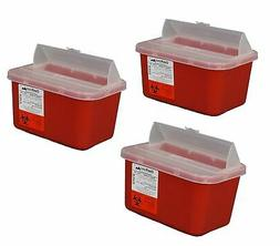 Brand New One Gallon Sharps Containers with Pop up Lid