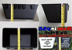 Cage Cups 6pk Black 1/2 Gallon Large Hanging Water Cage Cups