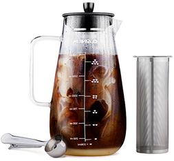 Large Cold Brew Coffee Maker - 1.5 Quart Iced Coffee Maker -