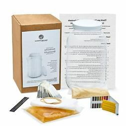 Complete Kombucha Starter Kit with Organic SCOBY - Gallon Br