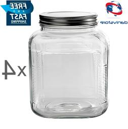 Anchor Hocking Cookie & Cracker Jar with Silver Lid 1-gal.