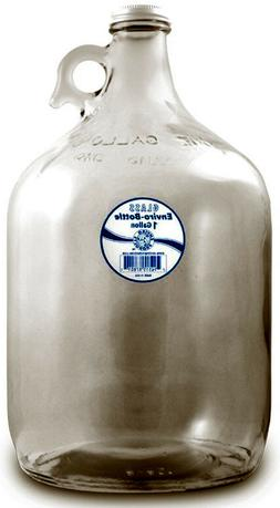 New Wave Enviro Products Glass Bottle, Clear, 1-Gallon