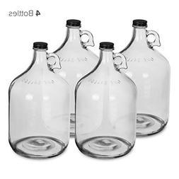 1 Gallon Glass Water Bottle Jug with 38 mm Screw Cap