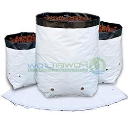 Grow Bags - 1 Gallon Black and White Grow Bags - Heavy Duty