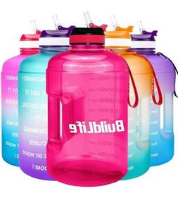 Gym Sports 1 Gallon Motivational Water Bottle Jug with Time