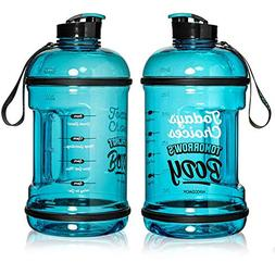 H2OCOACH Half Gallon Sports Water Bottle with Time Marker |