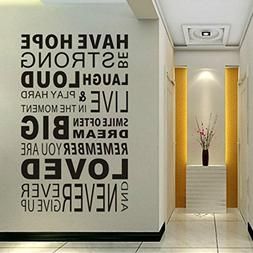 Inspirational Wall Decals Quotes,Wall Words Decals,Family Wa