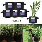 1,2,3,5,7,10,15,20 Gallon Plant Grow Bags Fabric  Pots with