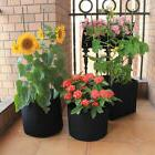 1,2,3,5,7,10 Gallon Black Thickening Fabric Pot Plant Pouch