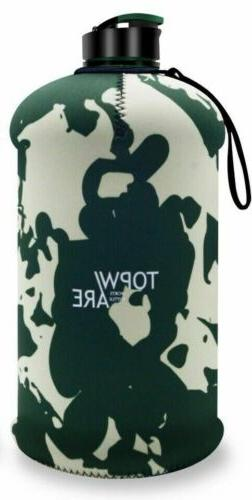 1/2 Gallon Water Bottle Time Marker BPA FREE - 2.2L Insulate