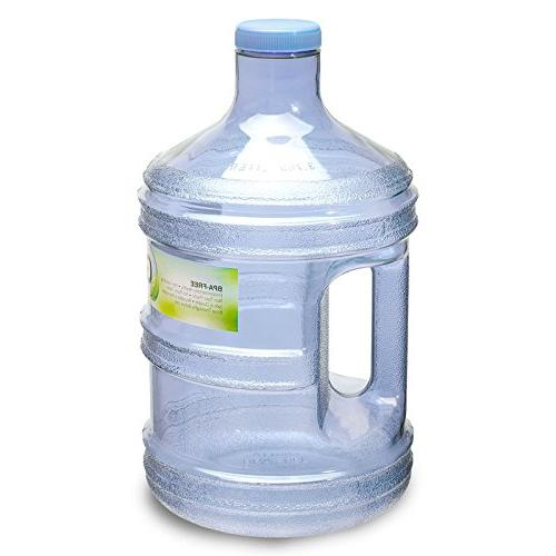"For Water Gallon Liter BPA Free Plastic Reusable Sport and Cap x 11. 5"" -"