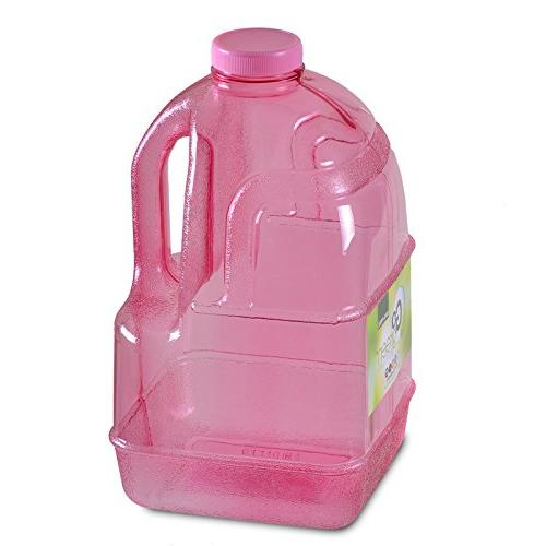 1 Gallon Reusable Water Big Dairy Jug with Holder