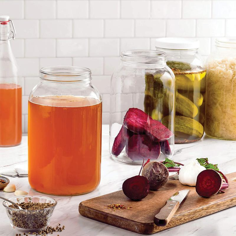 1 gallon Wide Glass Jar with BPA &