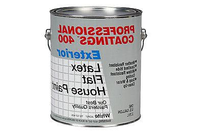 1 gallon flat white latex exterior paint