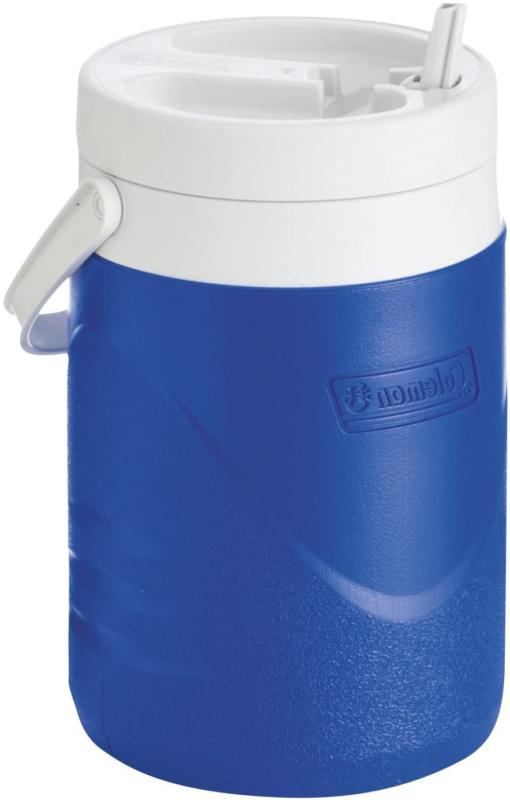 1 Gallon Water Ice Chest Faucet Drink Thermos Blue