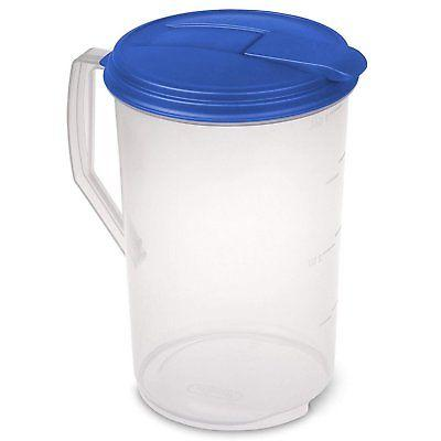 1 gallon pitcher with blue lid