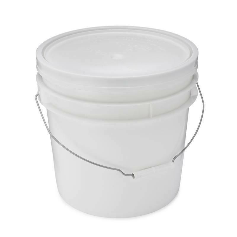 2 Bucket With Lid, White,