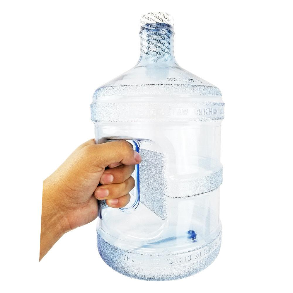 1 Gallon Plastic Water Bottle Container Polycarbonate Blue