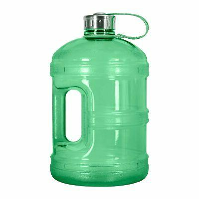 1 Reusable Bottle Jug BPA Leak-Proof Cap Green