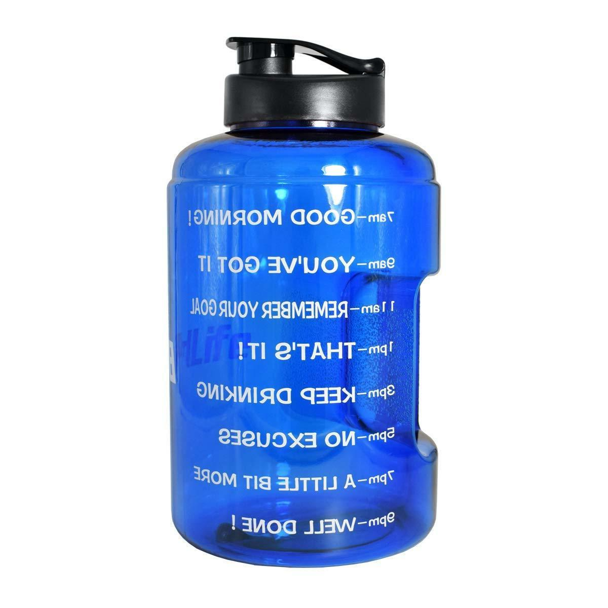 1 Gallon Inspirational Fitness Bottle w/Time