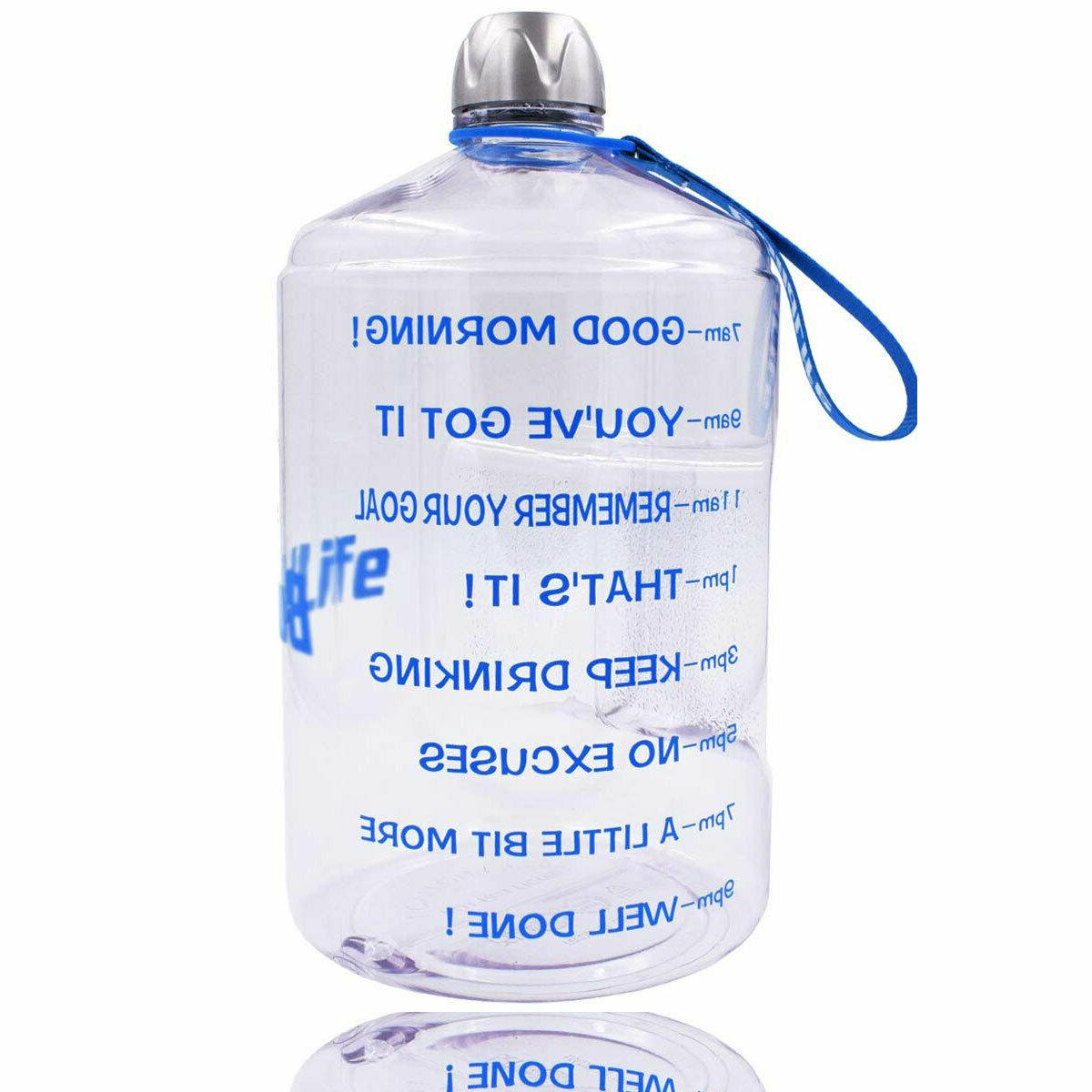 1 Water Bottle Motivational Fitness Workout Marker