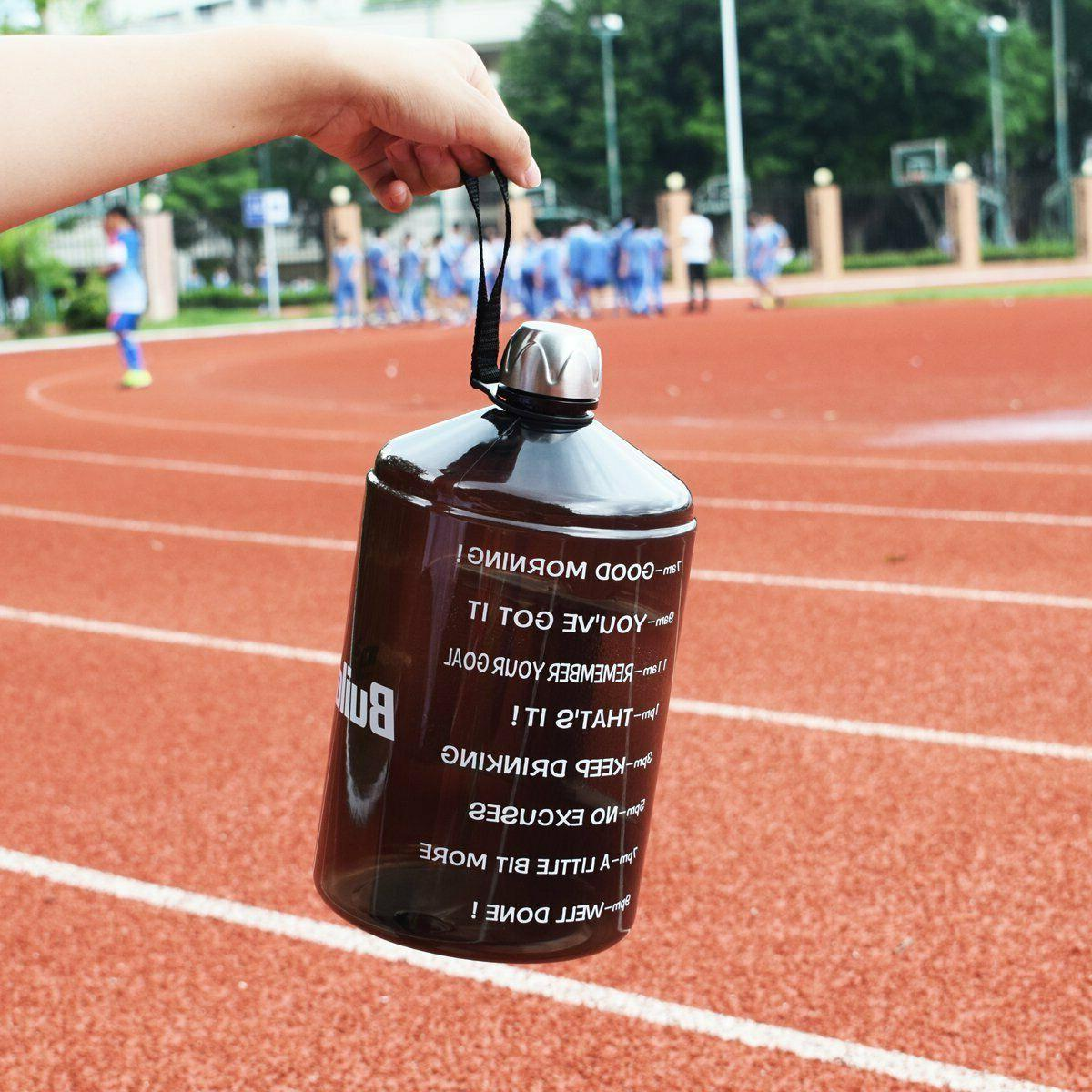 BuildLife Gallon Water Bottle Motivational with Time